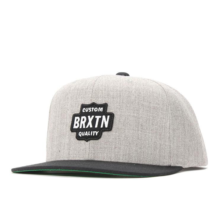 BRIXTON (ブリクストン) GARTH スナップバック キャップ Light Heather Grey / Black (ライトヘザーグレー/ブラック)