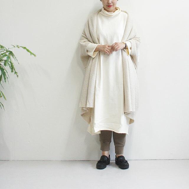 ichi イチ 裏毛ピグメントタートルワンピース (品番190560)
