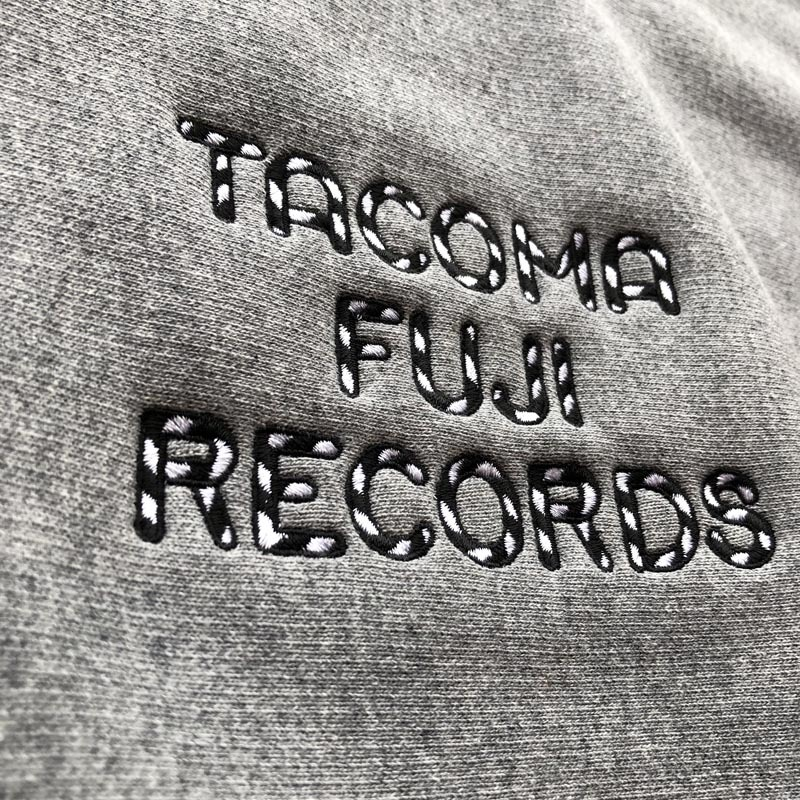 TACOMA FUJI RECORDS ZEBRA PATTERN LOGO SWEAT SHIRT