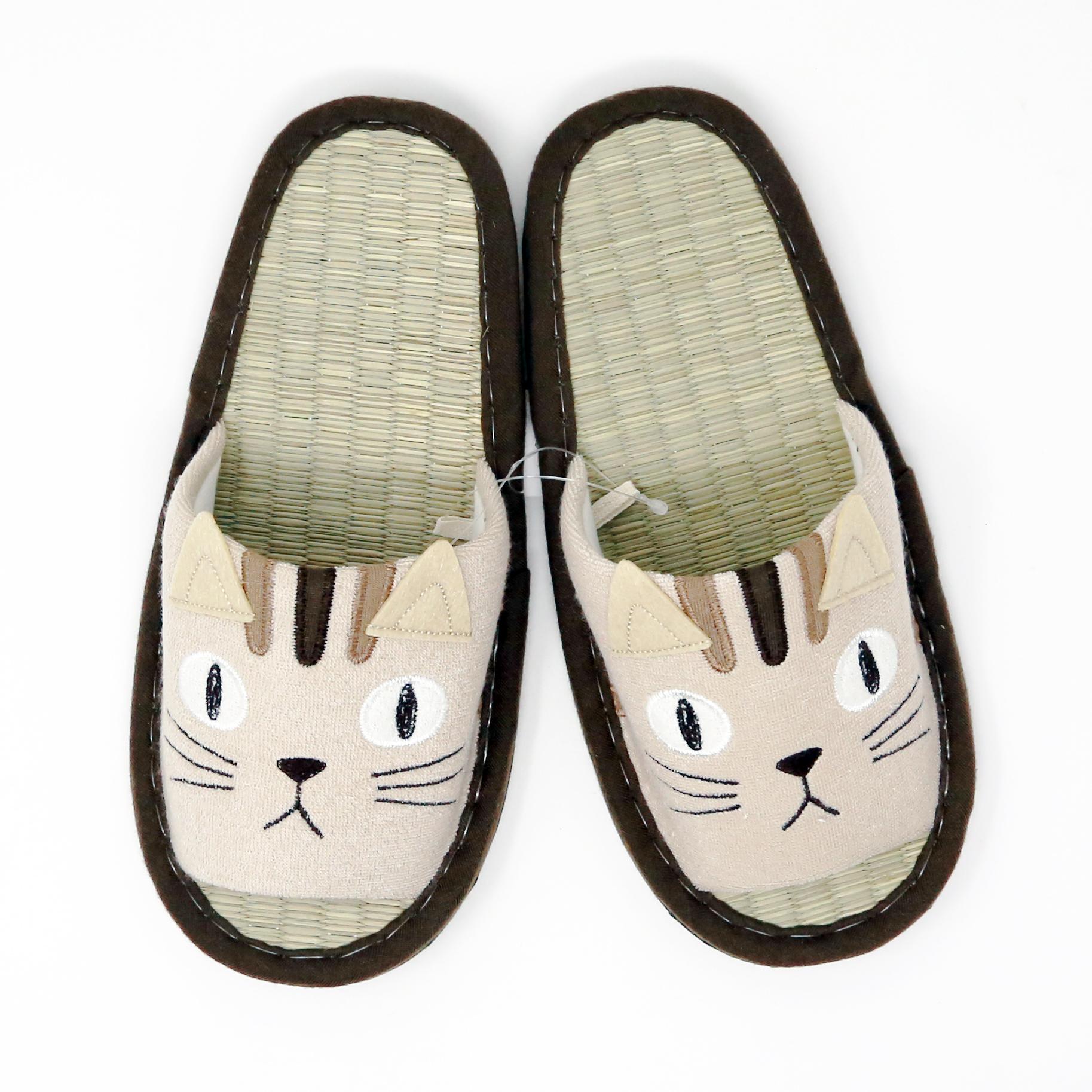猫スリッパ(トリオキャットスリッパたたみ)トラ