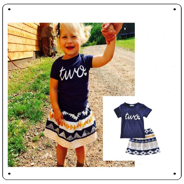 セール【SE032】ネイビーTシャツとスカートの2点セット80サイズ
