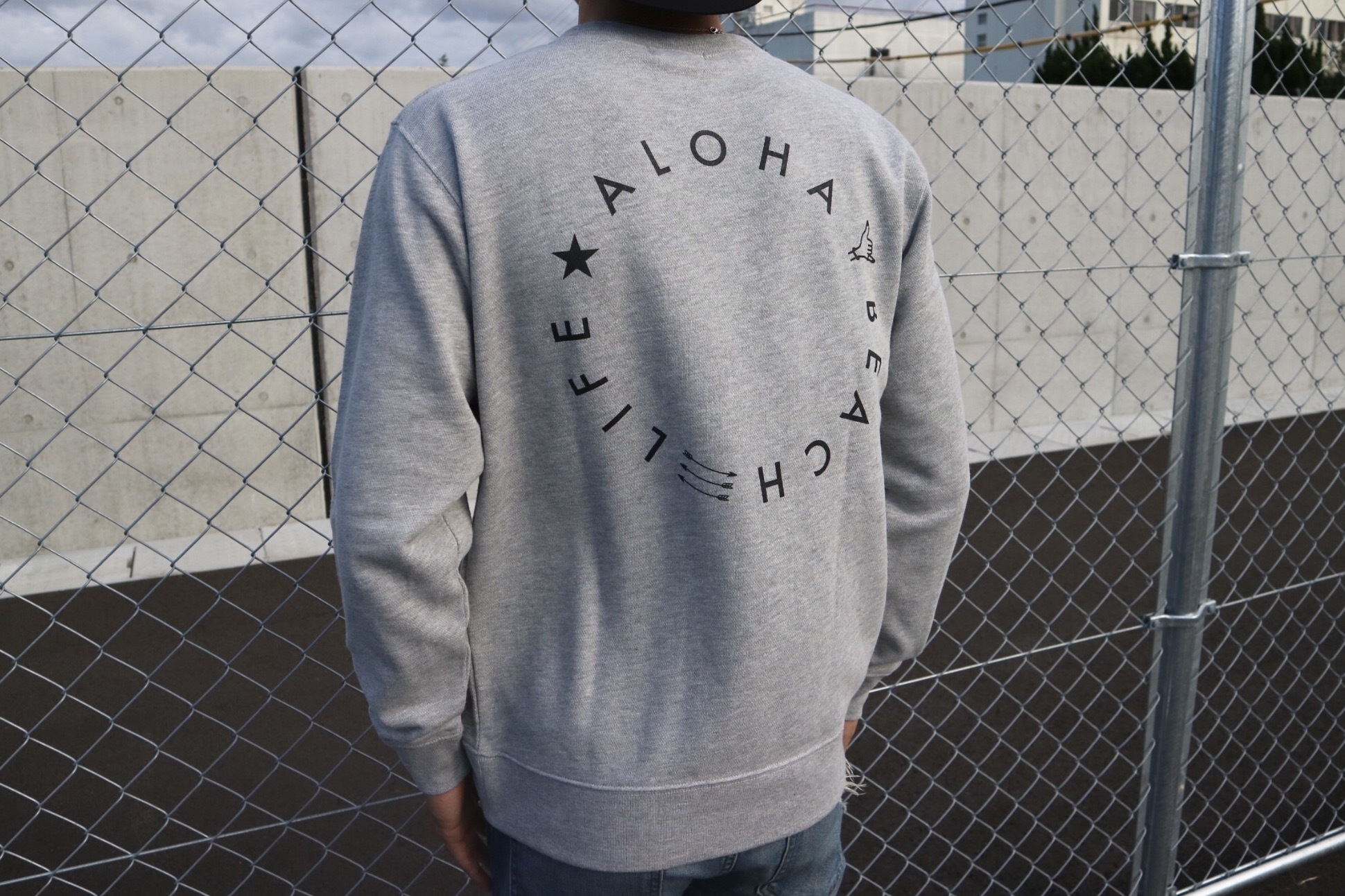 Smiley SURF Message スウェット(grey)