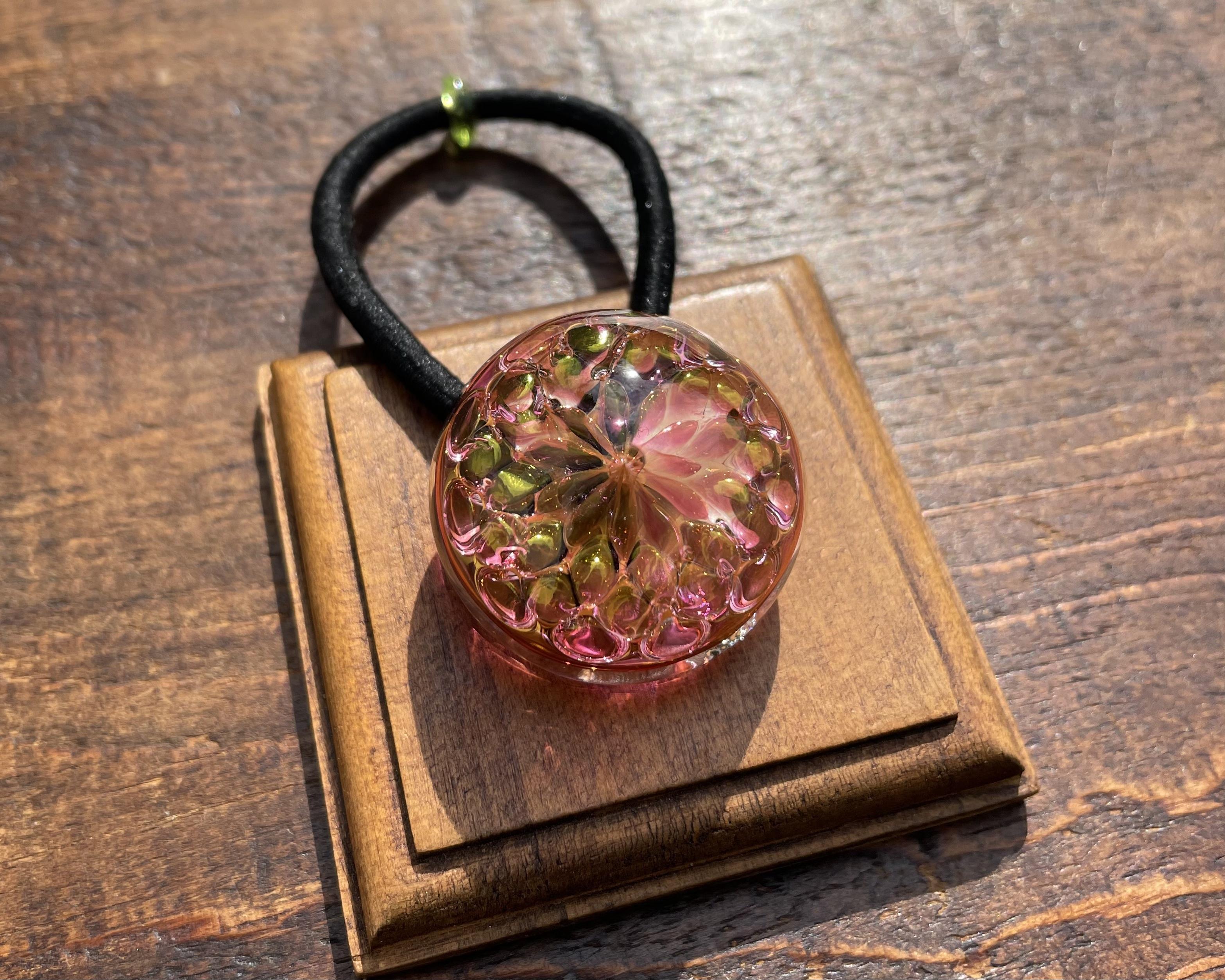 【Pink Flower】ピンクの花ヘアゴム