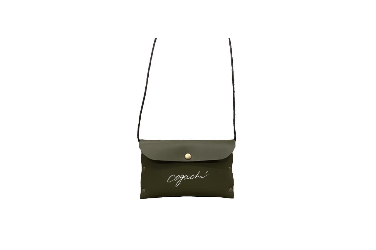 coguchi leather logo mini bag (KAKI)