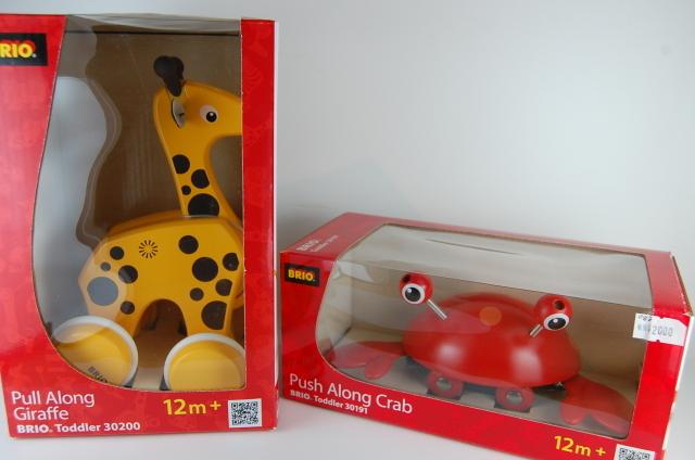 BRIO ブリオ 木のおもちゃ(キリン/かに)