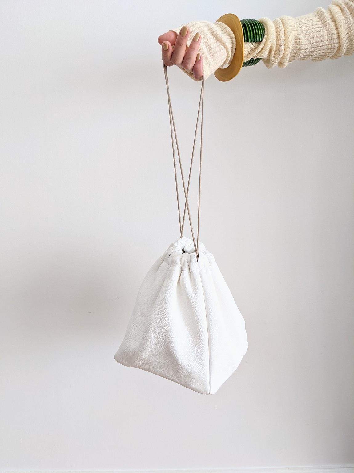 Deer Skin Bag - White