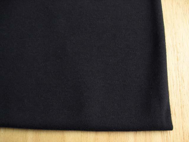J&B定番 綿スムースニット ブラック #19 NTM-1721