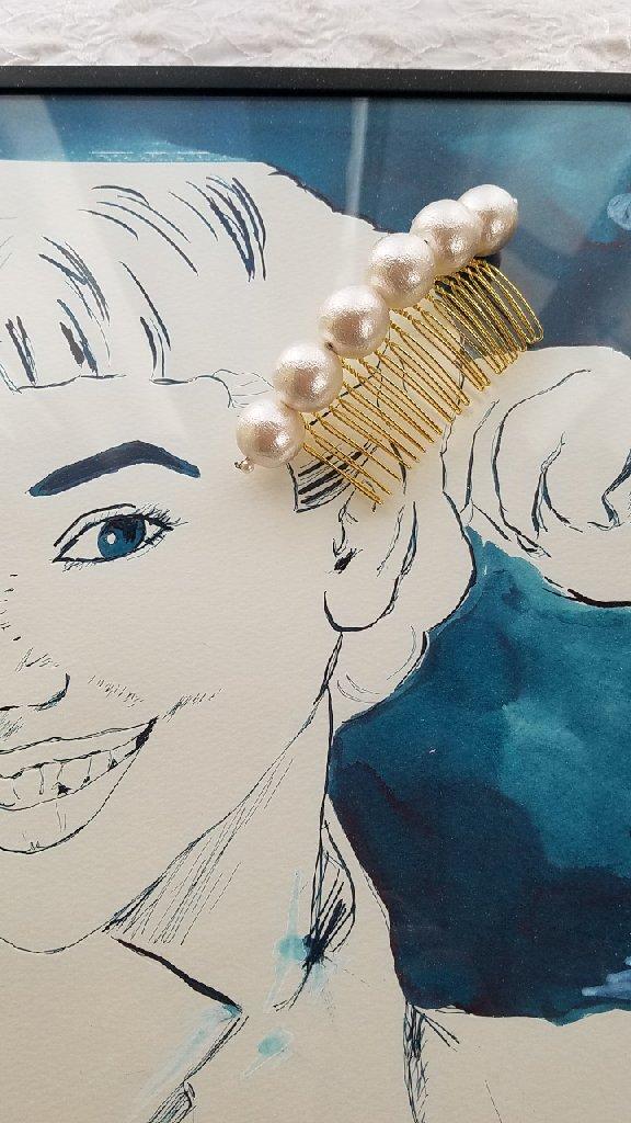 18㎜大粒コットンパールコーム