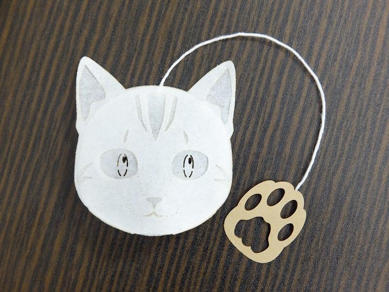 アメリカンショートヘアー猫のティーバッグ プーアール茶 1包