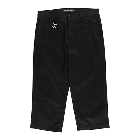 【送料無料】ROLLING CRADLE(ロリクレ) | WIDE CROPPED PANTS / Black