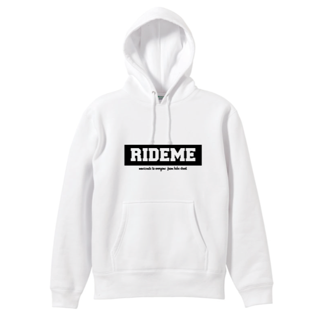 RideMe(ライドミー) | BOX LOGO Hoodie(White)