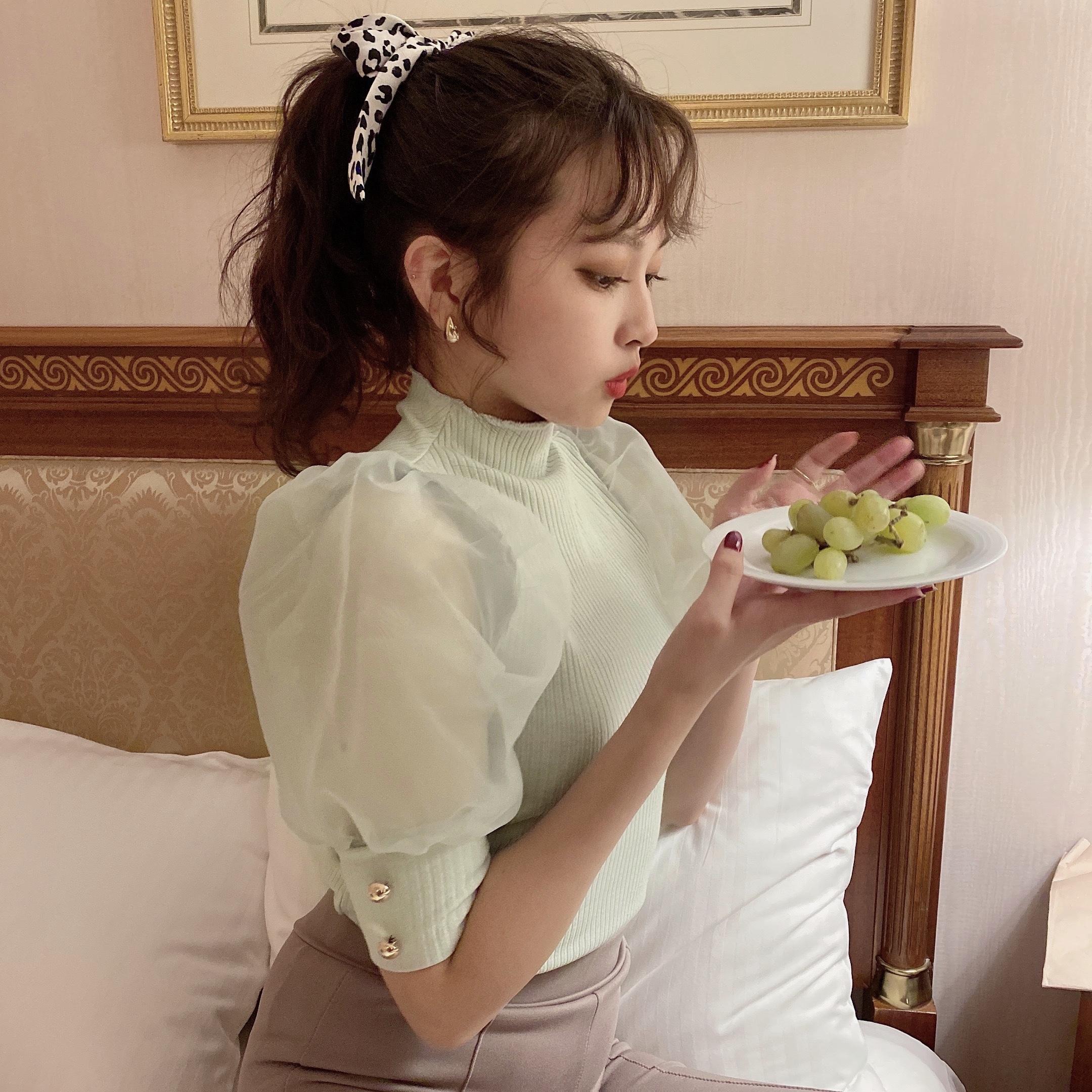 Désir original ice cream tulle tops【mint】