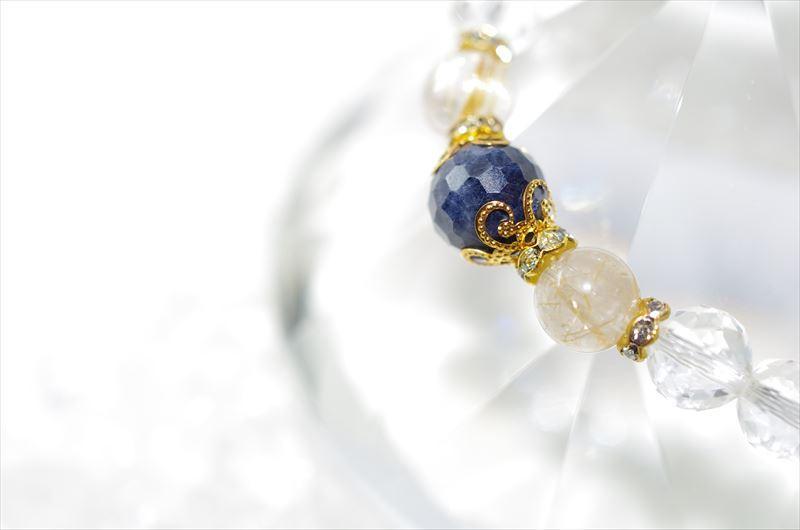 Sapphire birthstone(9月誕生石)【パワーストーンブレスレット 】 - 画像1