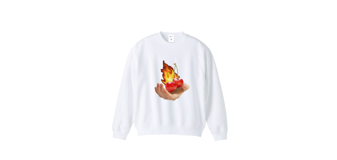 coguchi cherry fire sweat (WH)