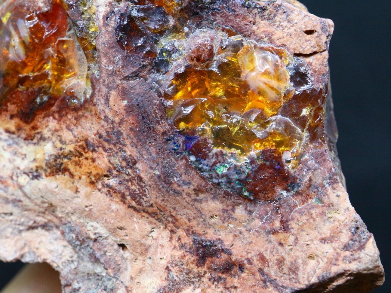 メキシカン ジェリーオパール メキシコ産 123,9g JOP013 蛋白石 鉱物 天然石 原石