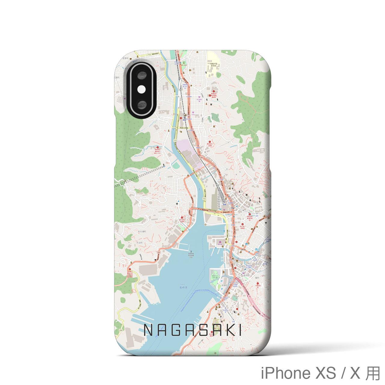 【長崎】地図柄iPhoneケース(バックカバータイプ・ナチュラル)