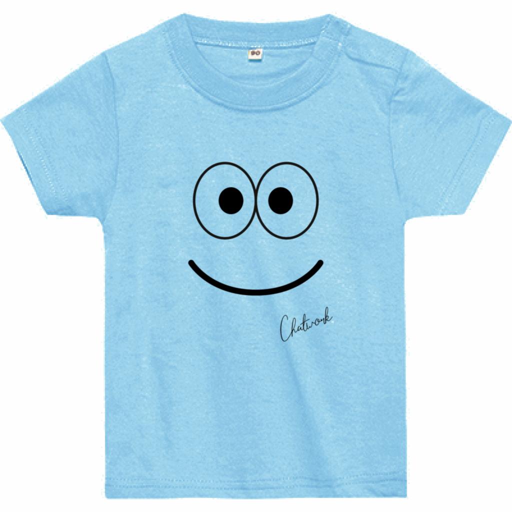 Emoji Smile Tシャツ(ベビー)ライトブルー