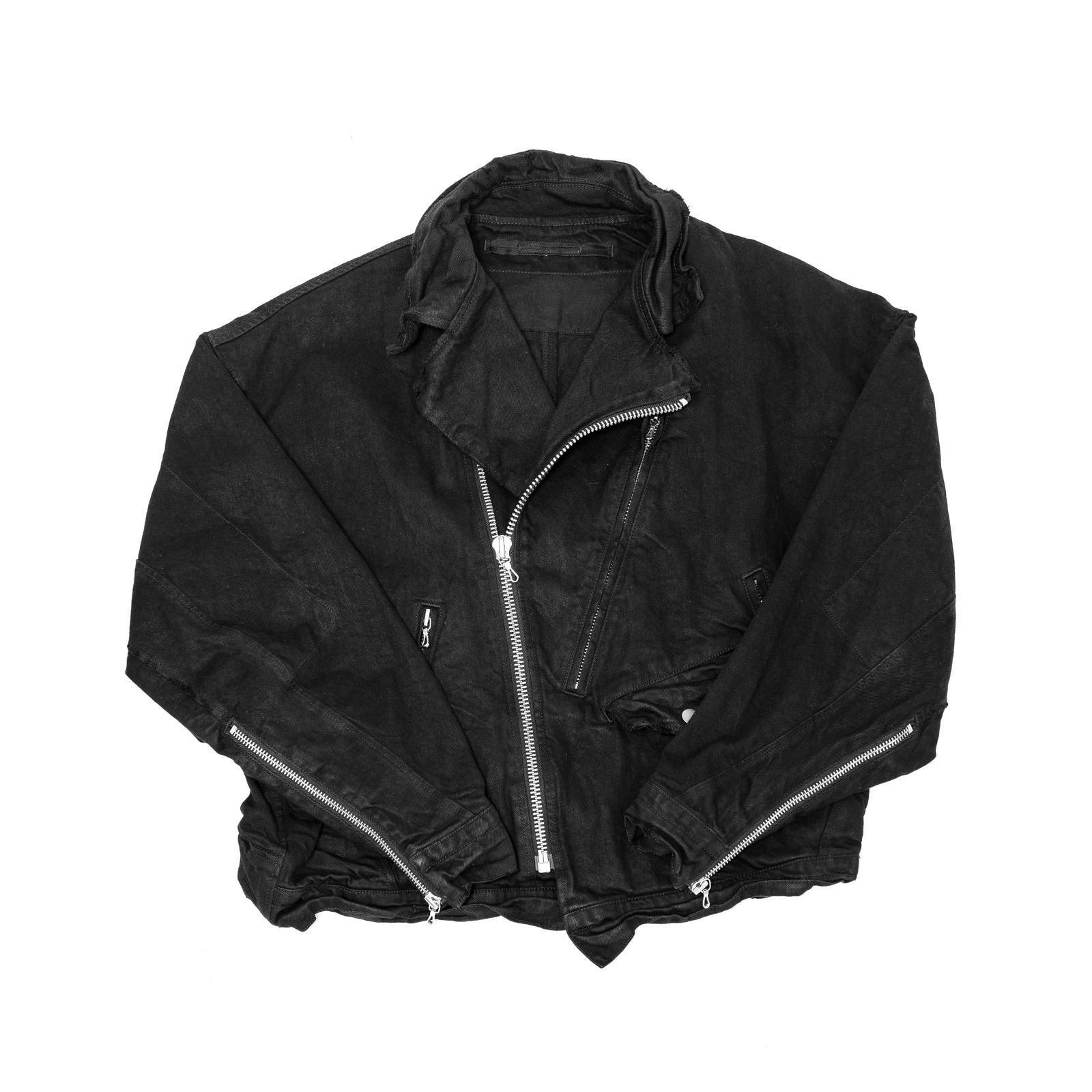 597BLM8-BLACK / GI ライダースジャケット