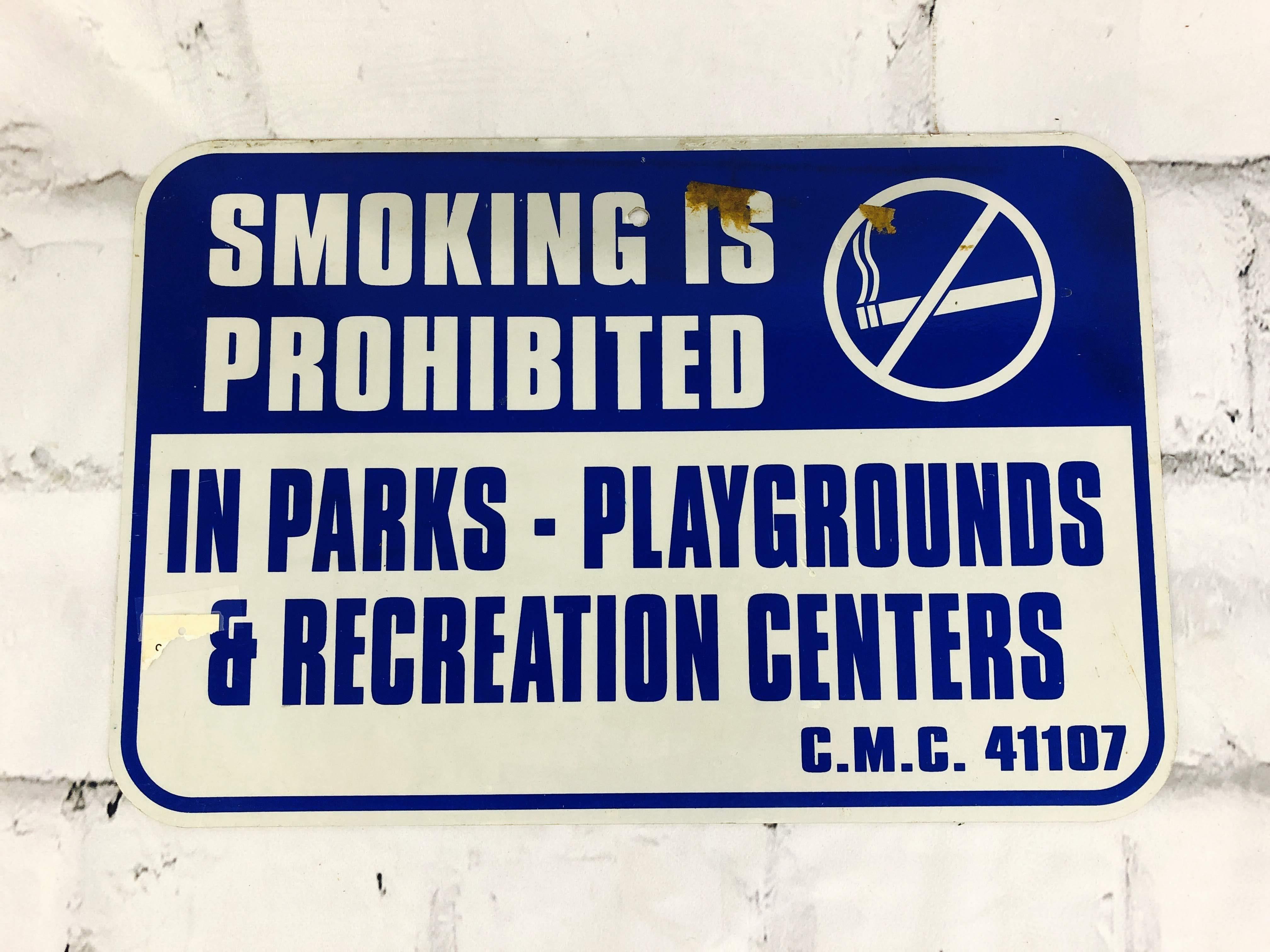 品番6275 道路標識 看板 『SMOKING IS PROHIBITED』 ロードサイン サインプレート アメリカンヴィンテージ