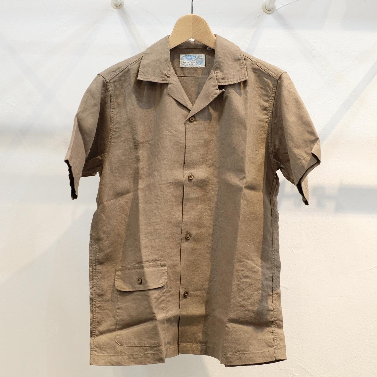 Workers(ワーカーズ) オープンカラーシャツ ベージュリネン