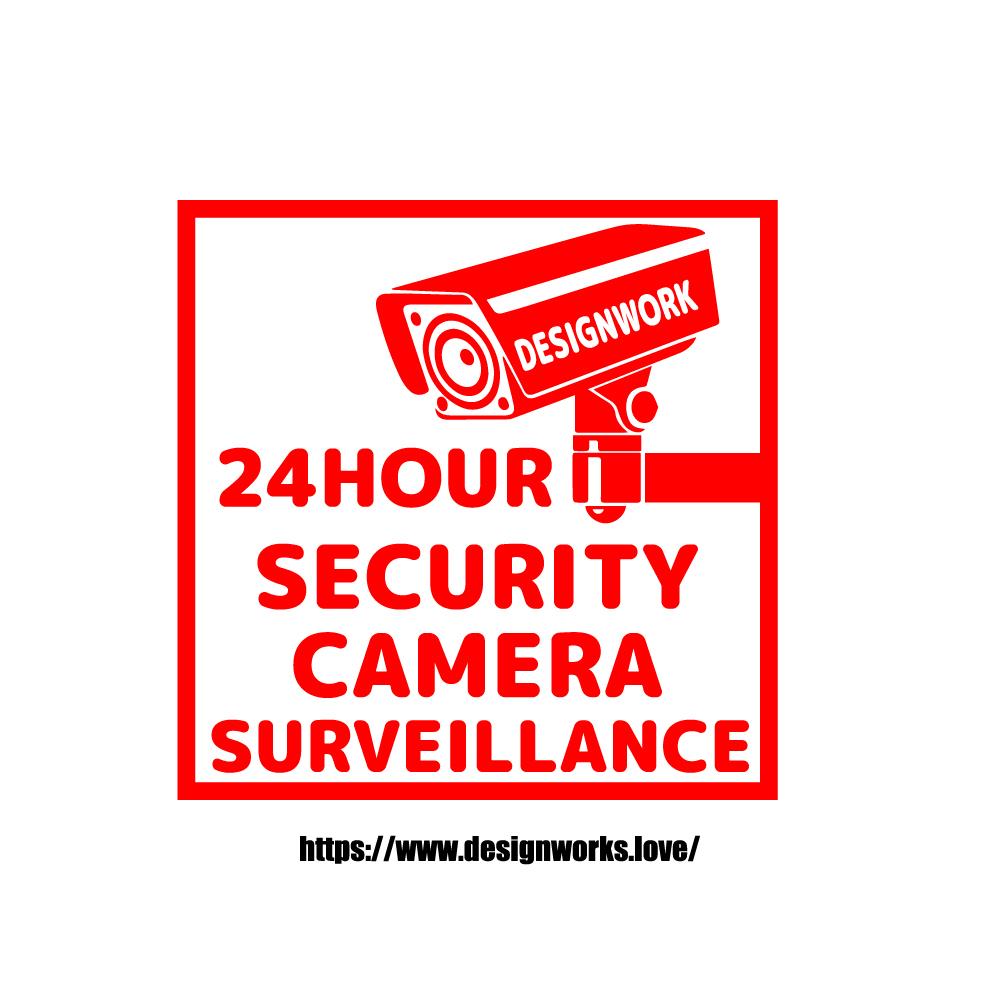 全10色 防犯カメラ 作動中 ステッカー 英語バージョン