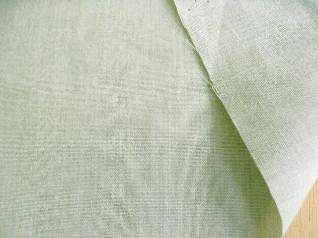 綿先染めダンガリー グリーン CTN-0154