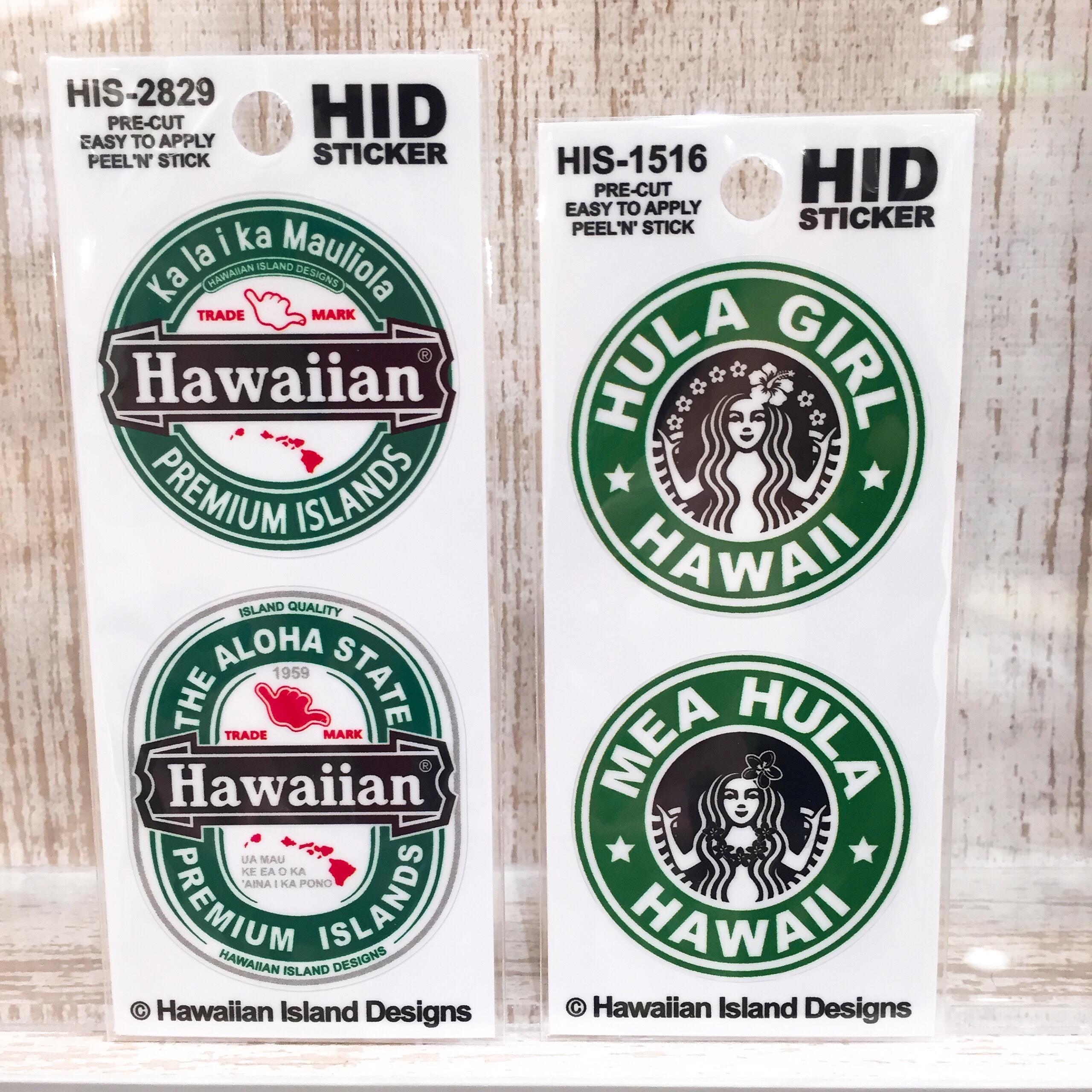 ハワイアン アイランドデザイン ステッカー