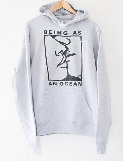 【BEING AS AN OCEAN】Kiss Hoodie (Gray)