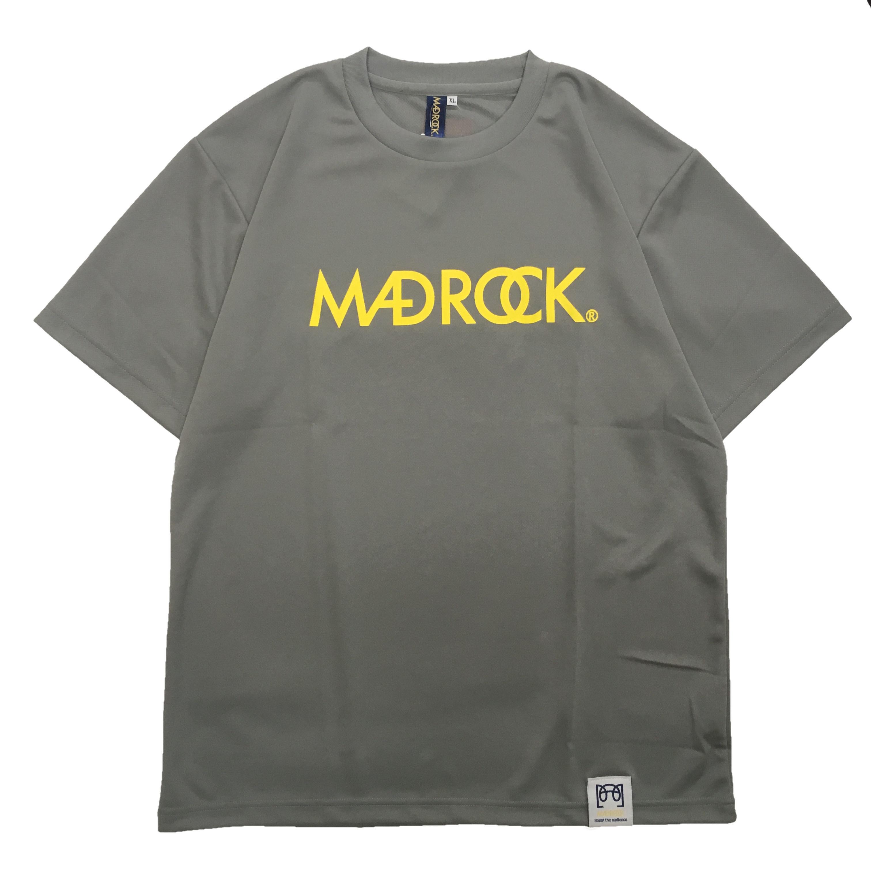 マッドロックロゴ Tシャツ/ドライタイプ/グレー&イエロー