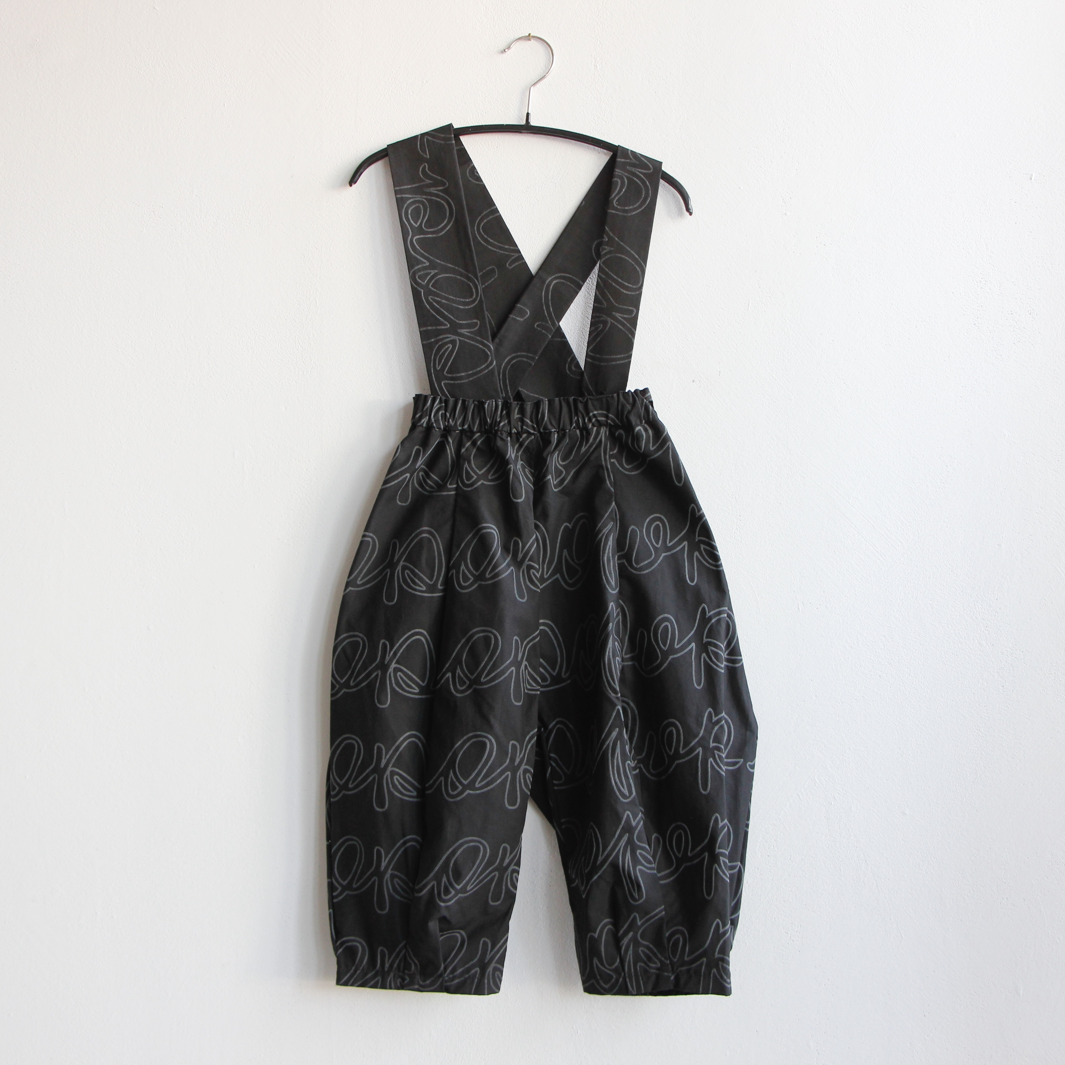 《frankygrow 2020AW》REMOBABLE SUSPENDER PROJECT PANTS / black × deep black / LL