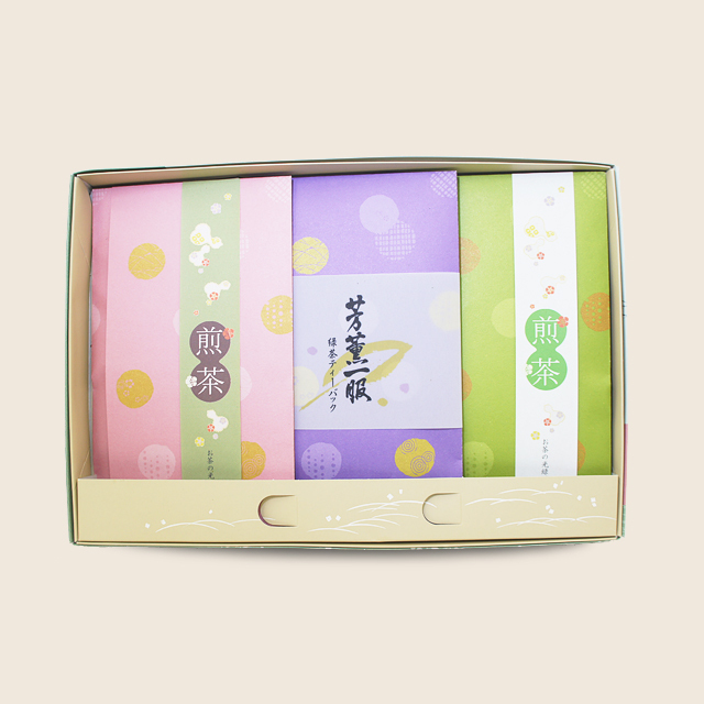 あららぎ袋セット (山香90g・光緑90g・緑茶ティーバッグ)