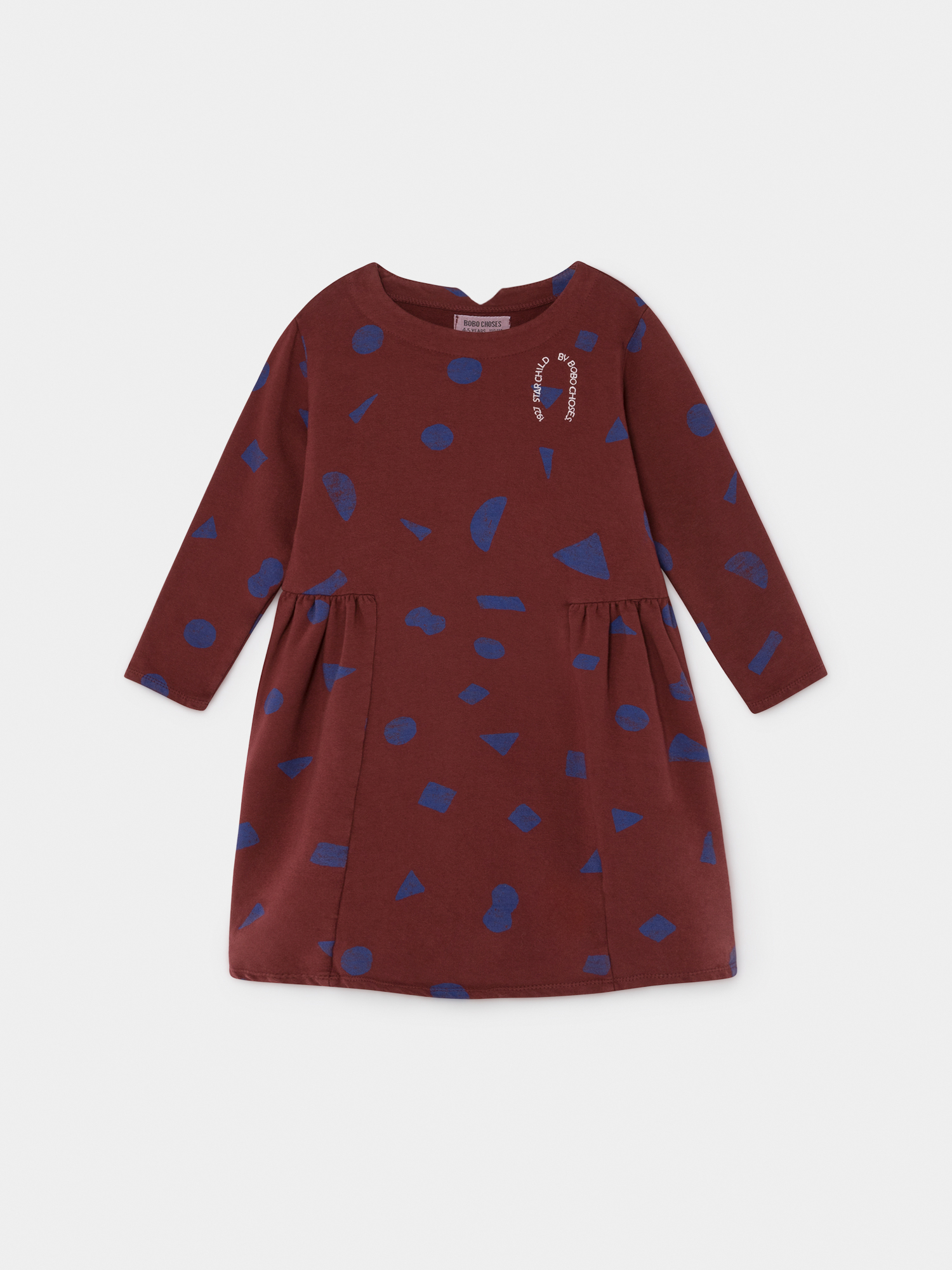 《BOBO CHOSES 2019AW》All Over Stuff fleece dress / 2-9Y