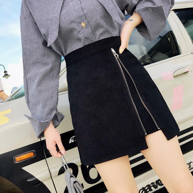 「ボトムス」ファッション秋冬オススメ切り替えスリットハイウエスト2色カジュアルスカート