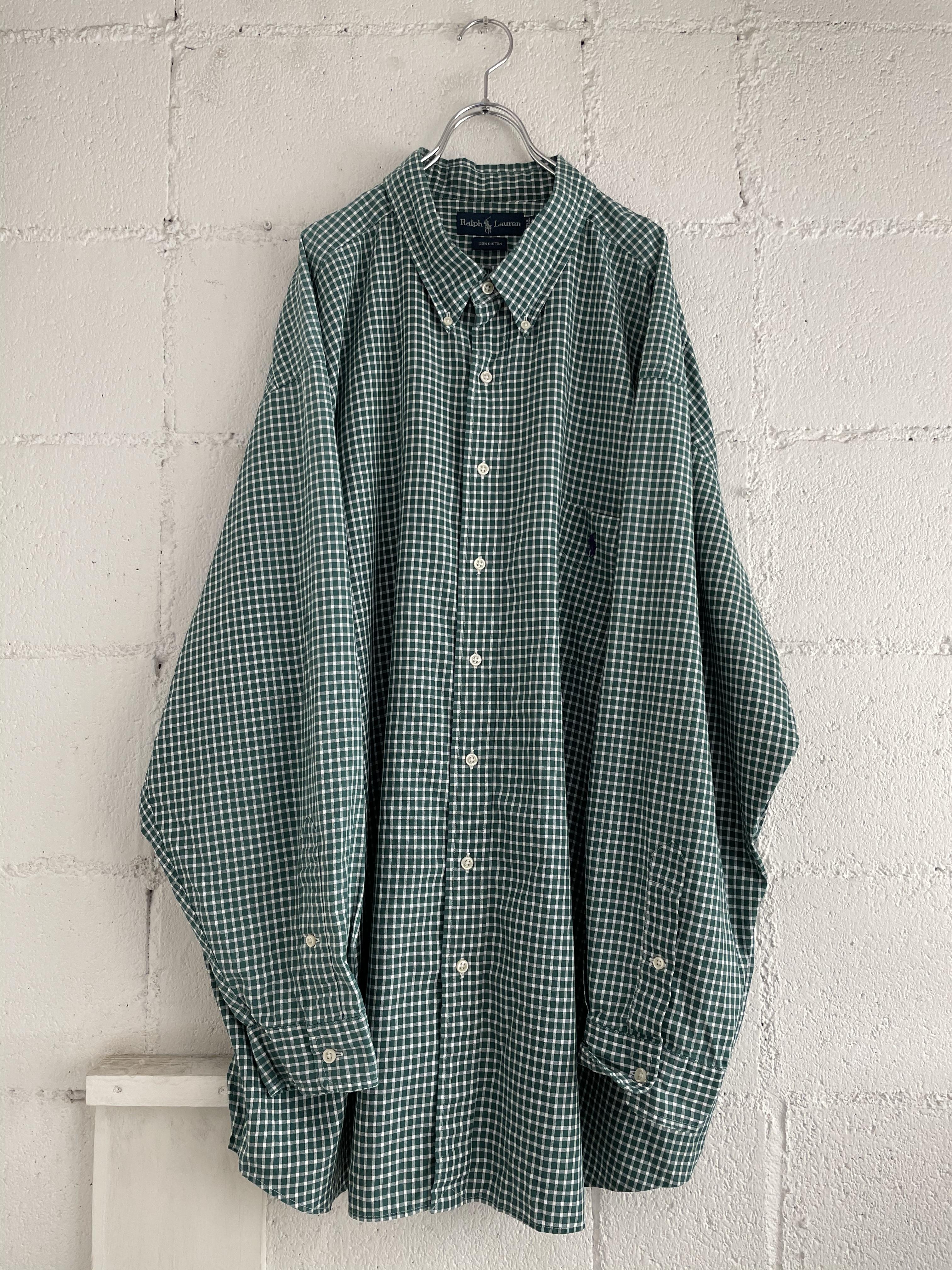 【USED】ralph lauren / オーバーサイズチェックシャツ