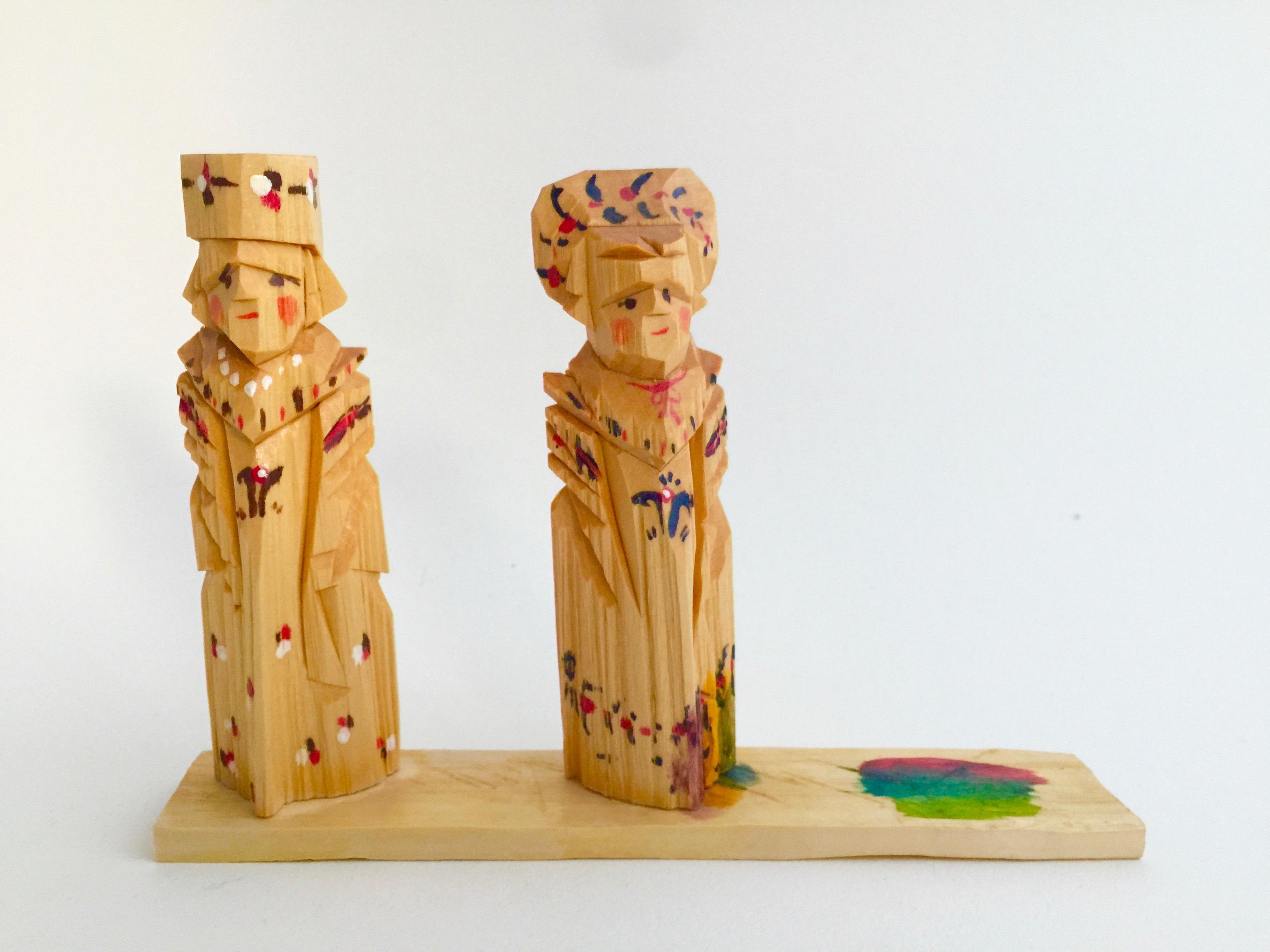 ロシア 木彫り人形(ペア1)