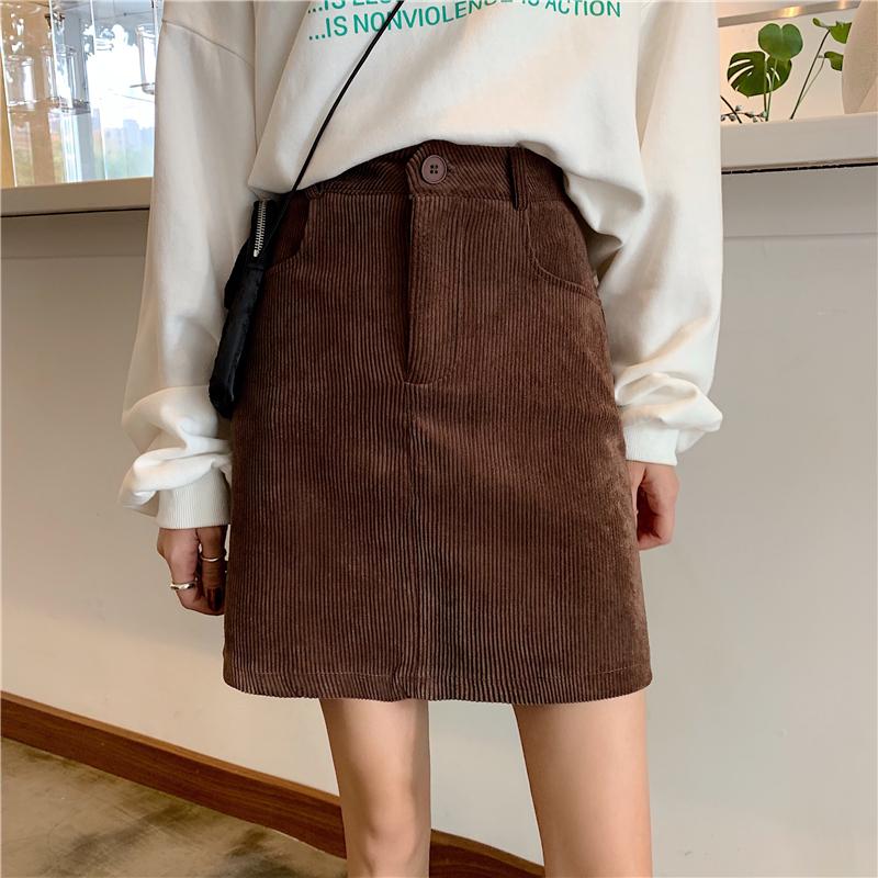 「ボトムス」冬カジュアルフェミニンシンプル2色ミニ合わせやすいスカート