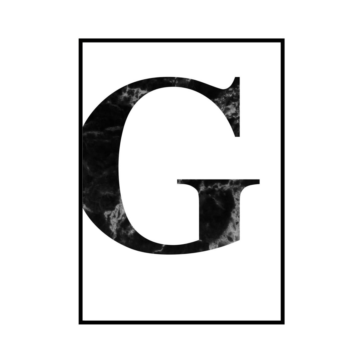 """""""G"""" 黒大理石 - Black marble - ALPHAシリーズ [SD-000508] B4サイズ ポスター単品"""