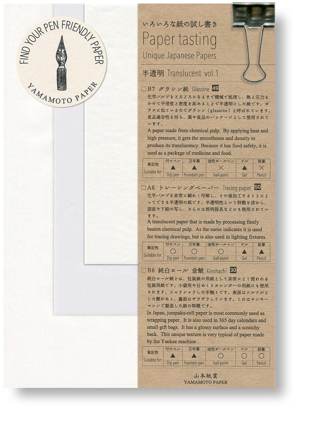 Paper tasting Translucent vol.1