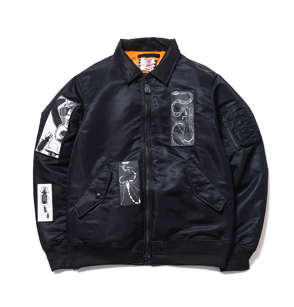 【SON OF THE CHEESE】FACE MA-1(BLACK)