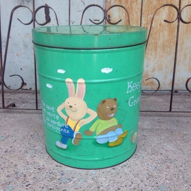 グリーン 76ポーターリメイク缶