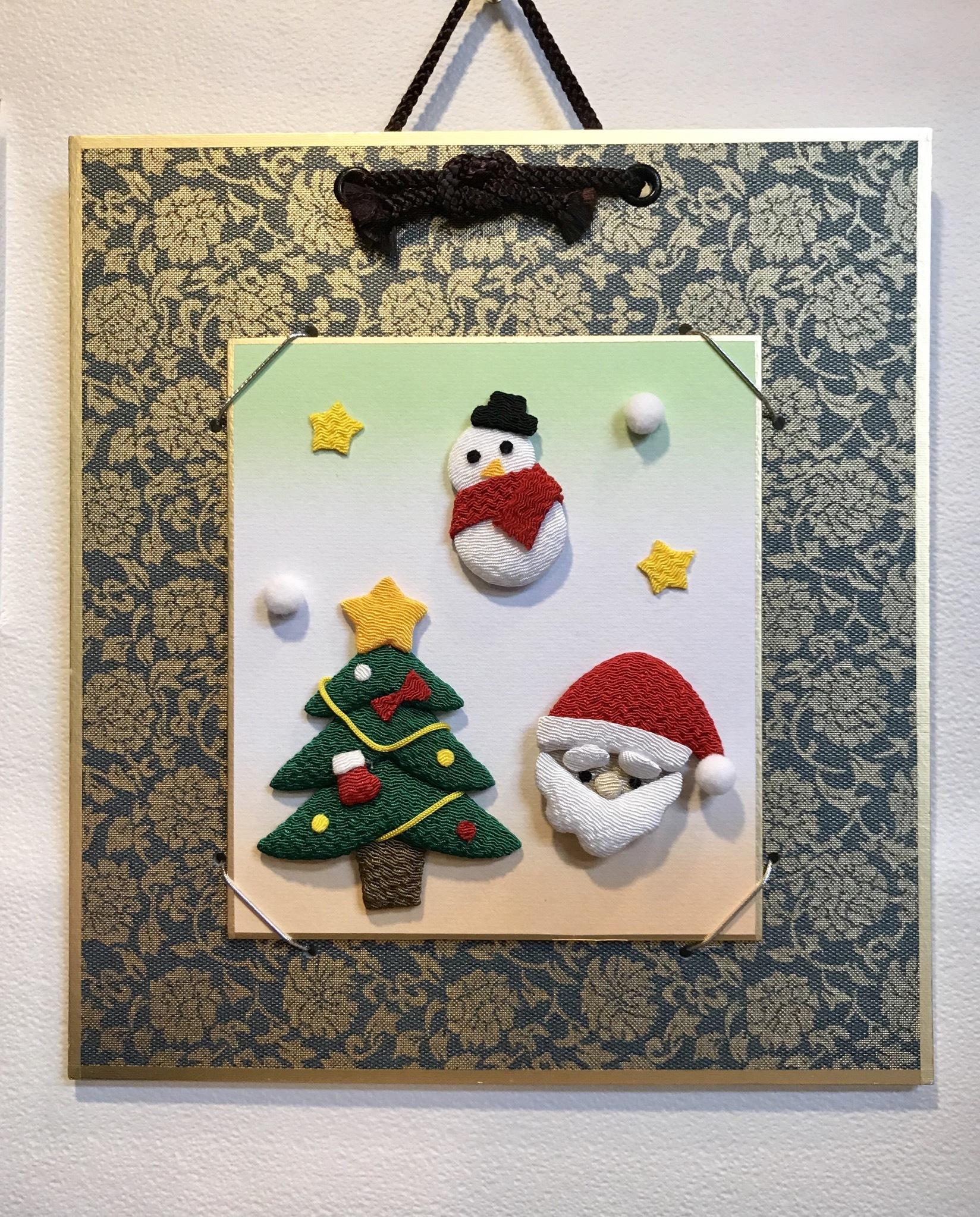 クリスマス☆ちりめん豆色紙