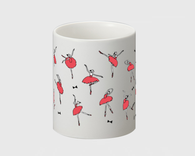 バレリーナ(赤) マグカップ - 画像3