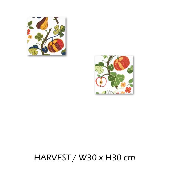 北欧生地 ファブリックパネル 横30 cm x 縦30 cm Kinnamark HARVEST 受注販売商品 (100315)