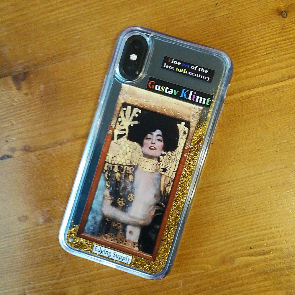 オリジナル iPhone X/Xs ケース 19世紀末美術シリーズ クリムトA