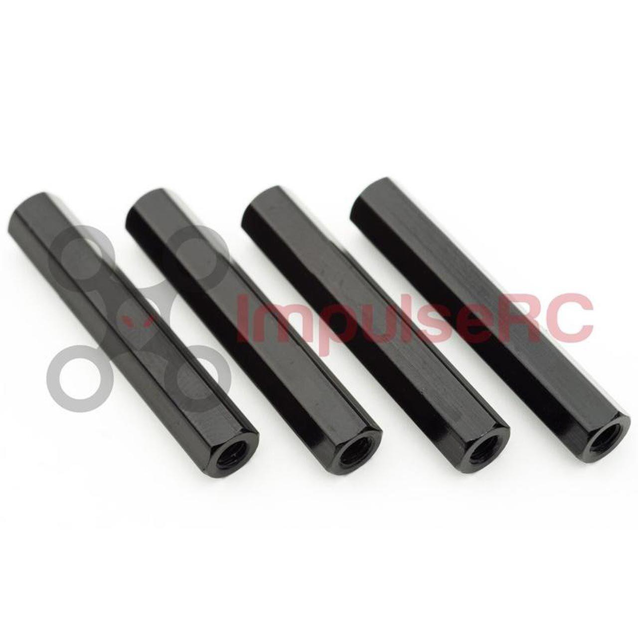 ImpulseRC STANDOFF M3 ALUMINIUM HEX 5x30mm 黒/4本セット