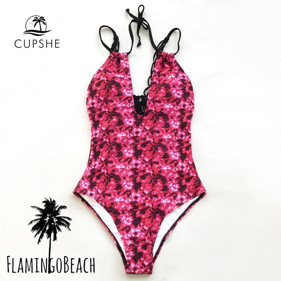 【FlamingoBeach】pink pattern monokini モノキニ