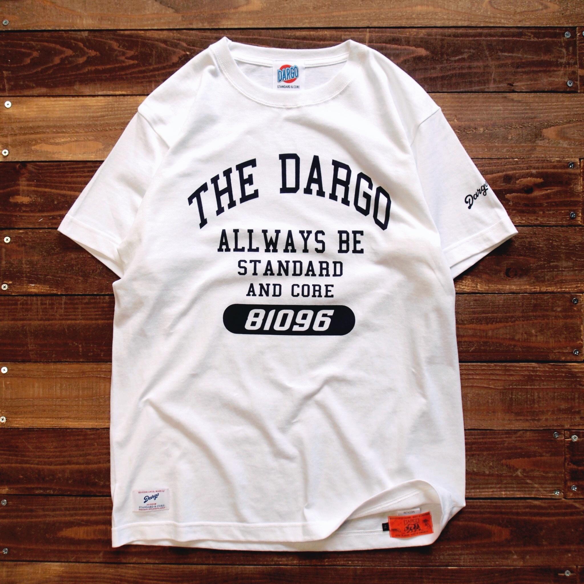 """【DARGO】""""College Logo"""" T-shirt (WHITE)"""