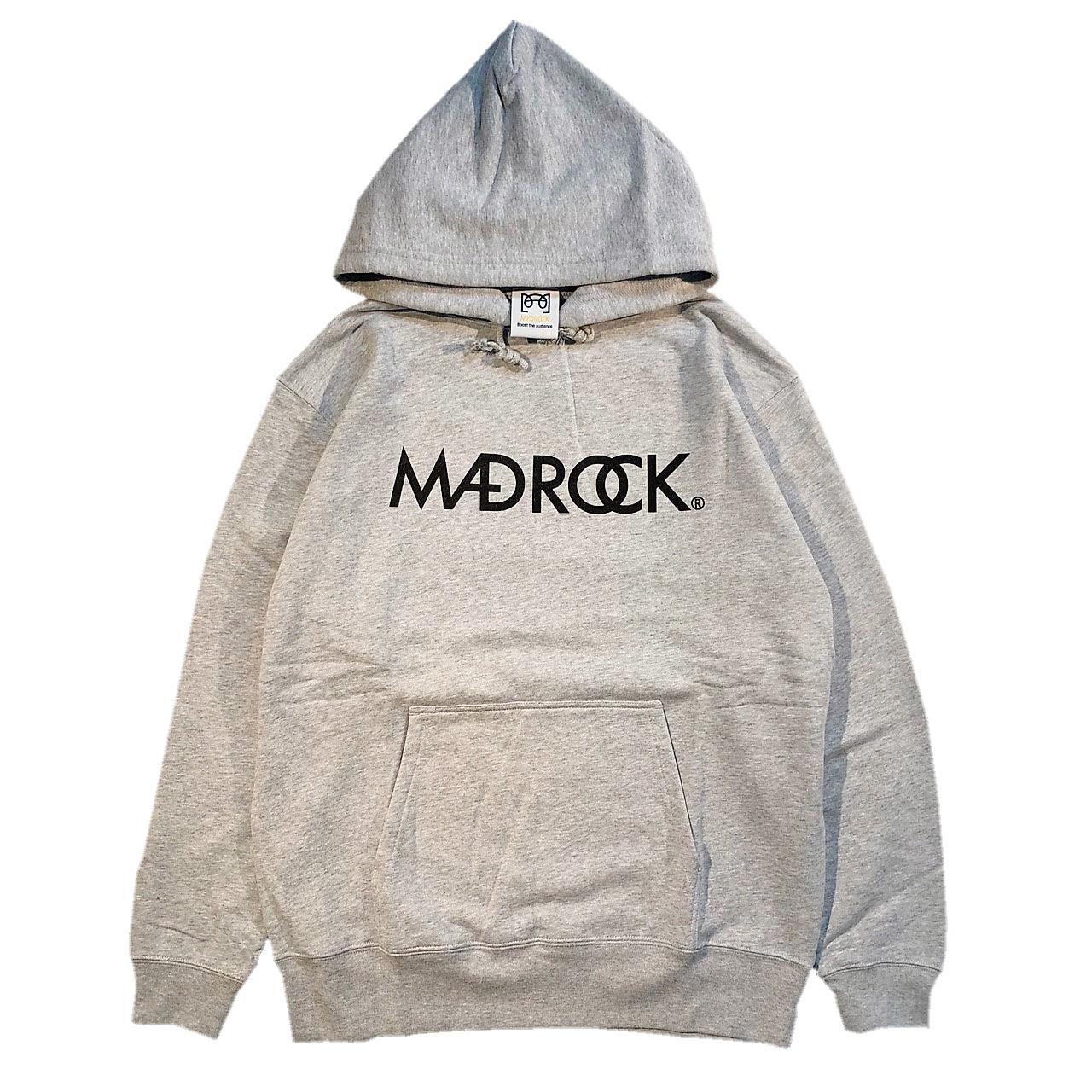 マッドロックロゴ プルオーバーパーカー/ミックスグレー