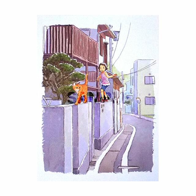 台湾ポストカード 「猫去散歩」