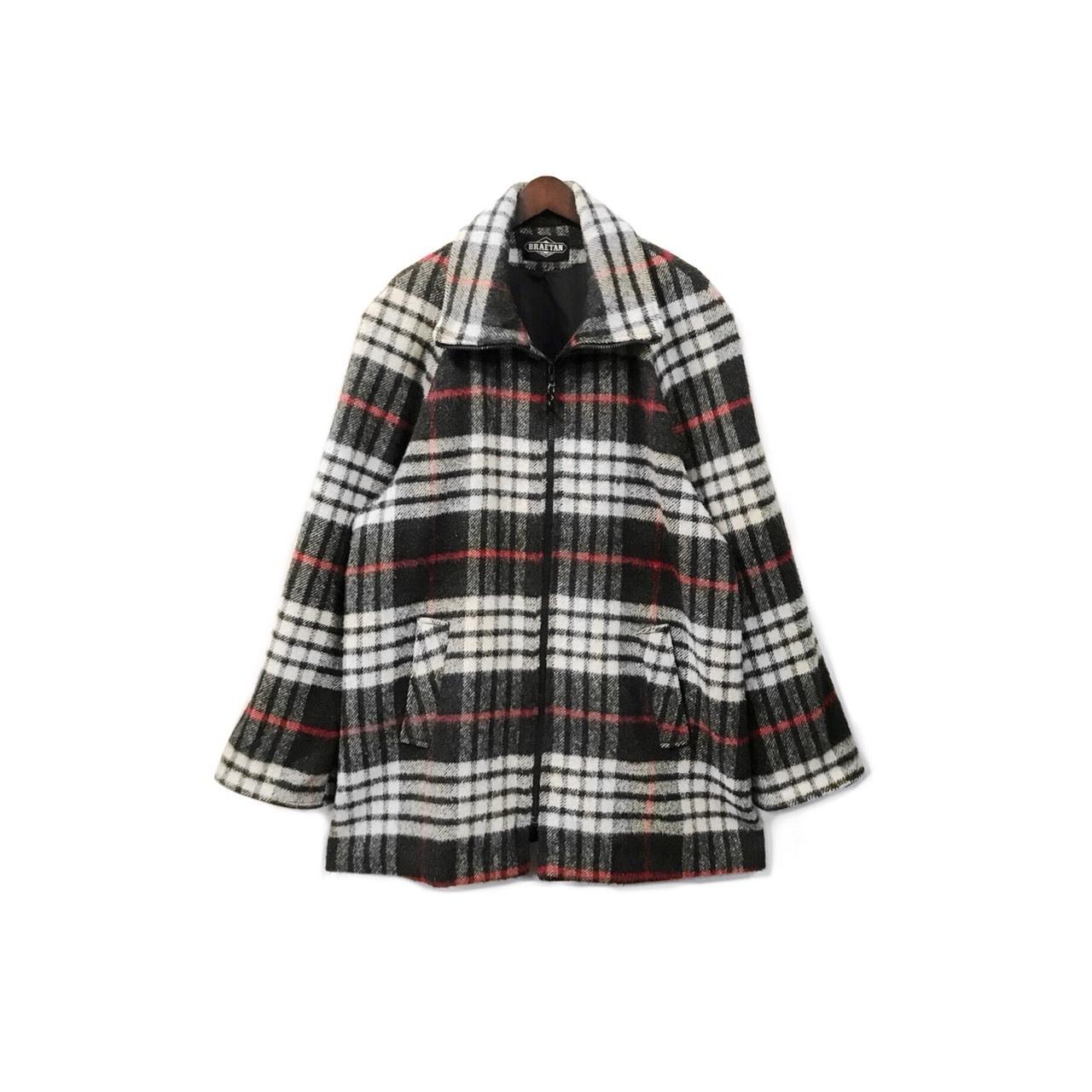 USED - Wool Check Zip Coat ¥18000+tax → ¥14400+tax